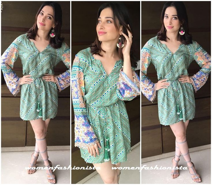 Tamannah in HemantNandita shirt dress and caged sandals