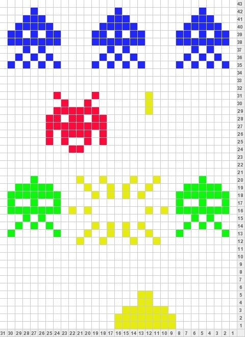 Space Invaders perler bead pattern