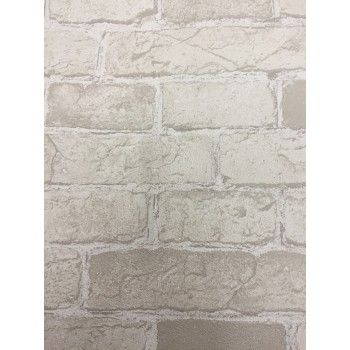 Taupe Beige Brick Wallpaper