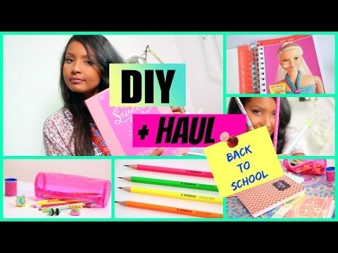 DIY FRANCAIS - HAUL ET DIY BACK TO SCHOOL - YouTube