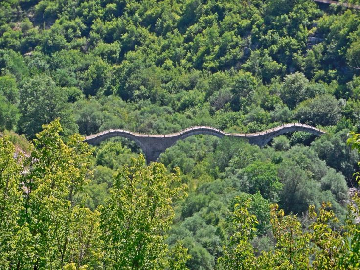 Kalogeriko (Plakidas) triple arched stone bridge.