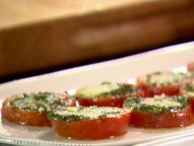 Tomatoes Roasted with Pesto recipe from Ina Garten via Food Network