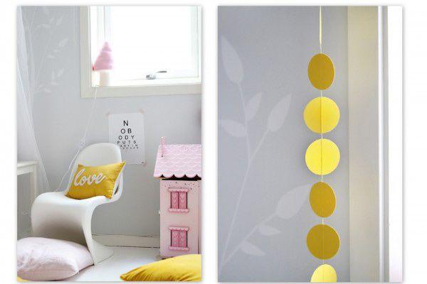 Habitacion rosa amarillo pequespacios pinterest - Habitacion infantil rosa ...