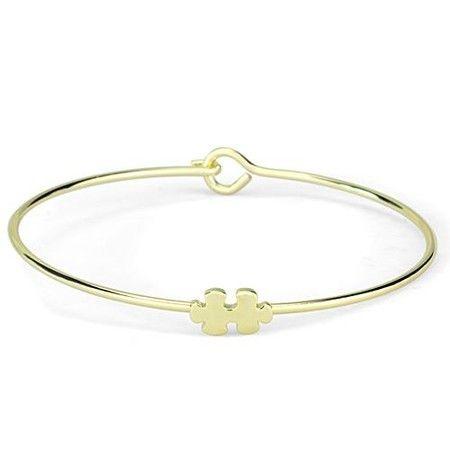a2f62d89ef39 Gold Jigsaw Bangle Bracelet. Joyería De La CelebridadPulseras