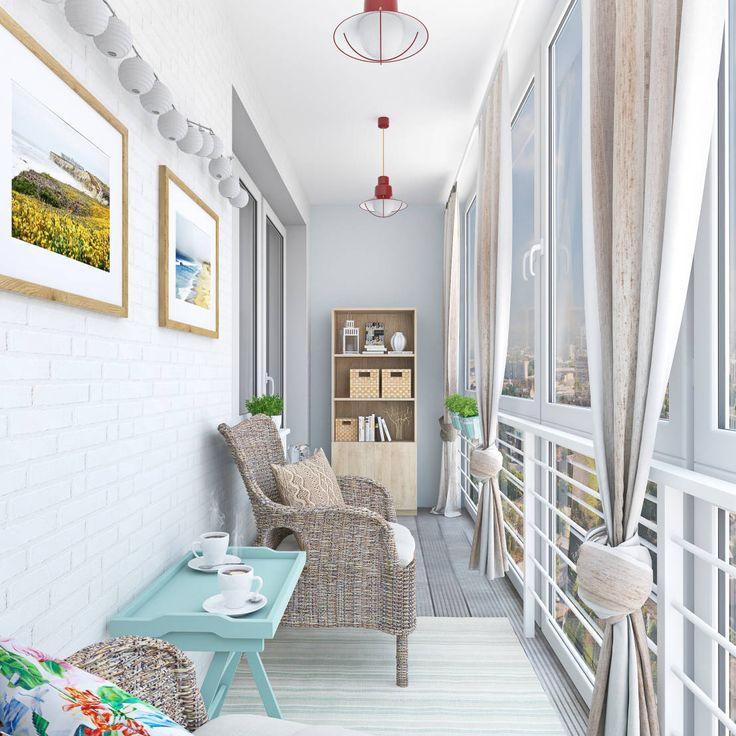 Balcones y terrazas escandinavas de Ekaterina Donde Design