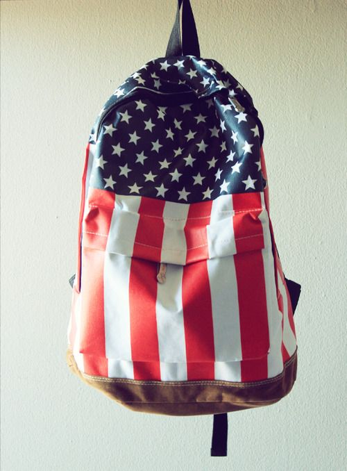 america: Backpacks, Back To Schools, Awkward Moments, Blue Fashion, American Flags, Fashion Bags, Back Packs, Red White Blue, Captain America