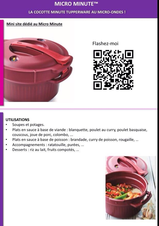 Fiche produit Tupperware: Micro minute 2 - Les Macarons à la Chartreuse
