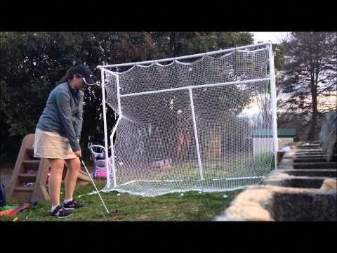 DIY GOLF NET - Homemade Indoor Outdoor Golf Net - YouTube #golfsimulators