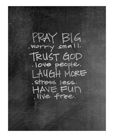 Another great find on #zulily! 'Pray Big' Chalkboard Print #zulilyfinds