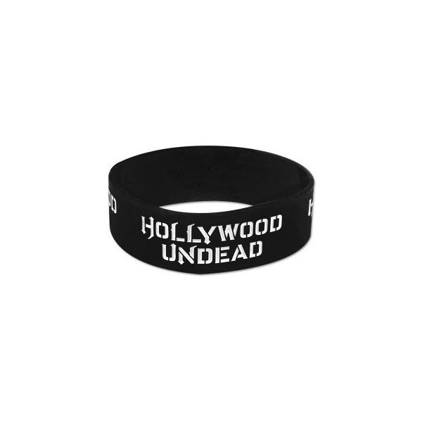 Hollywood UndeadAccessories | Hollywood Undead Logo Rubber Bracelet... (32 BRL) ❤ liked on Polyvore featuring jewelry, bracelets, accessories, rubber bracelets, logo jewelry, rubber jewelry and rubber bangles