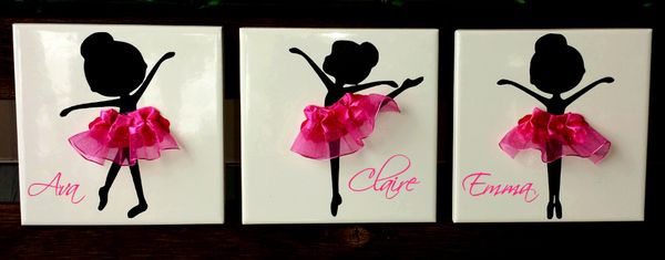 Ballerina With Tutu Ceramic Tile - Kelly Belly Boo-tique  - 1