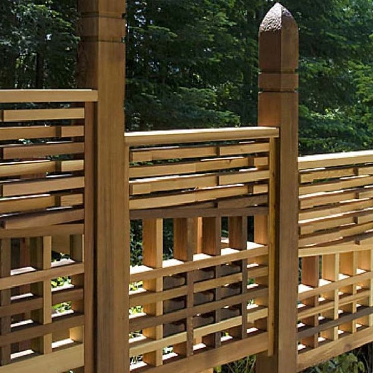 this decorative cedar fence has a truly unique design from western red cedar lumber association