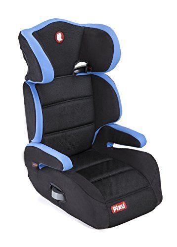 Piku 6227 - Silla de coche, grupo 2/3, 15-36 kg, 3-12 años, color azul/negro