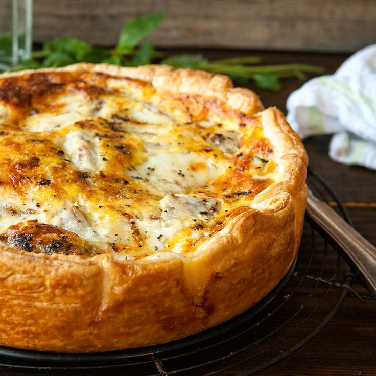 Quiche met tonijn en courgette