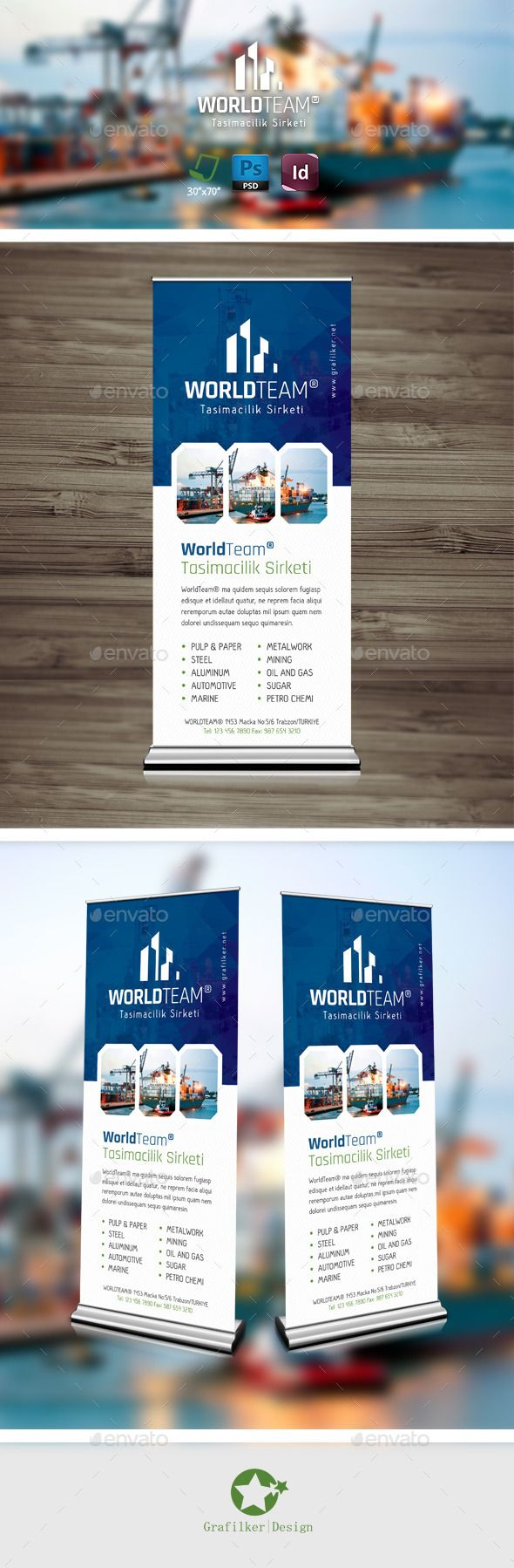 International Roll-Up Template #design Download: http://graphicriver.net/item/international-rollup-templates/9494069?ref=ksioks
