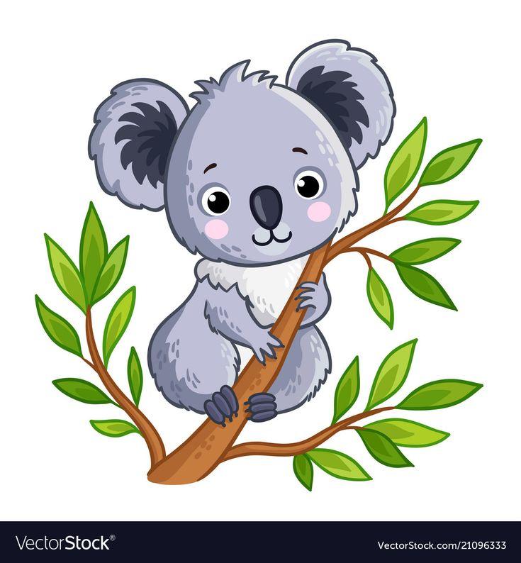 Картинка коала для детей цветная