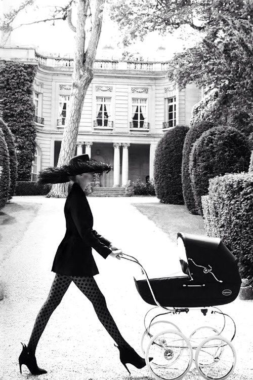 One must look tres chic while pushing a pram | tumblr ᘡղbᘠ