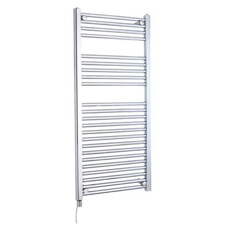 Electric-Only Heated Towel Rail 500 x 1100mm - Chrome - MTY068
