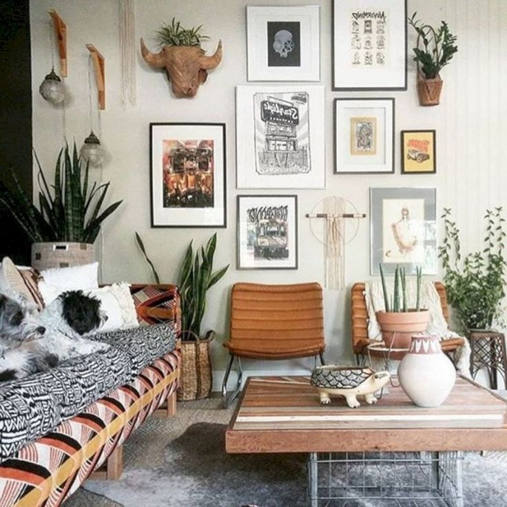 32 Finest Decorating Ideas for Long Walls   Boho living ...
