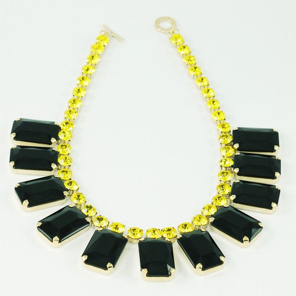 CATERINA MARIANI BIJOUX Swarovski Black Necklace | La Luce http://shoplaluce.com/collections/caterina-mariani-bijoux/products/caterina-mariani-bijoux-swarovski-necklace-black