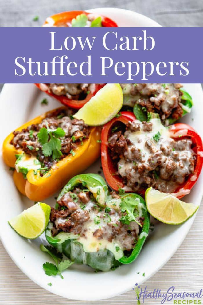 Low Carb Mexican Stuffed Peppers Recipe In 2020 Stuffed Peppers Mexican Stuffed Peppers Low Carb Stuffed Peppers