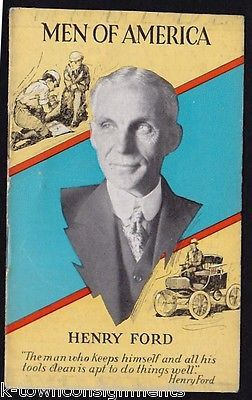 HENRY FORD MOTORS COMPANY ANTIQUE ART DECO GRAPHIC ILLUSTRATED ADVERTISING BOOK