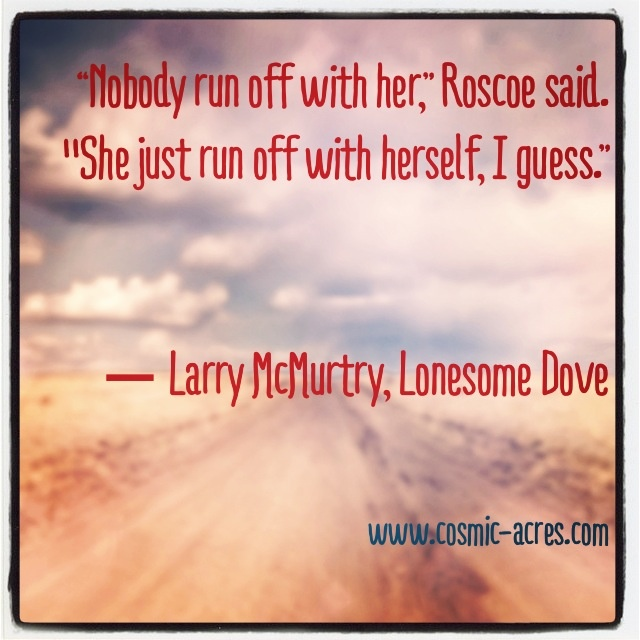 One of my favorite lines from one of my favorite books. ~ Lonesome