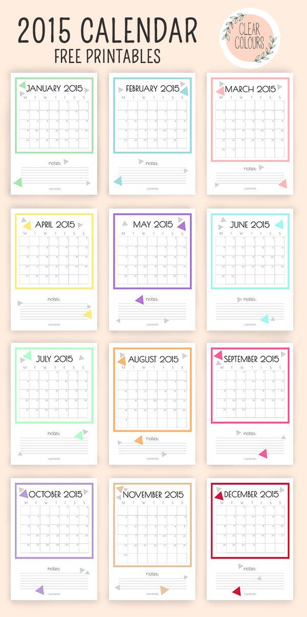2015 free calendar printables