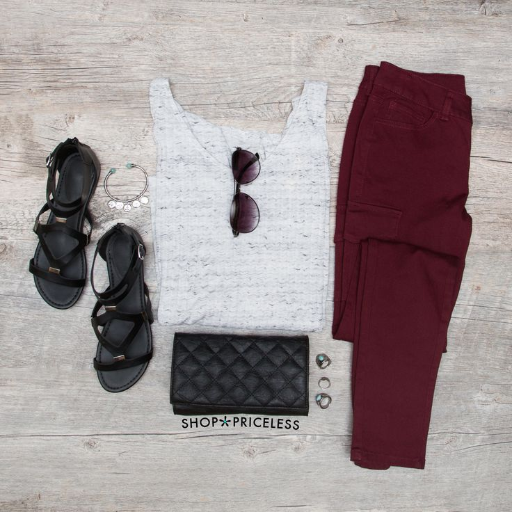 - Details - Size Guide - Model Stats - Contact It's okay to have a little attitude! These Talia Cargo Skinny Jeans feature an burgundy-colored stretch fabric with a mid-rise, skinny jean styling. Clas