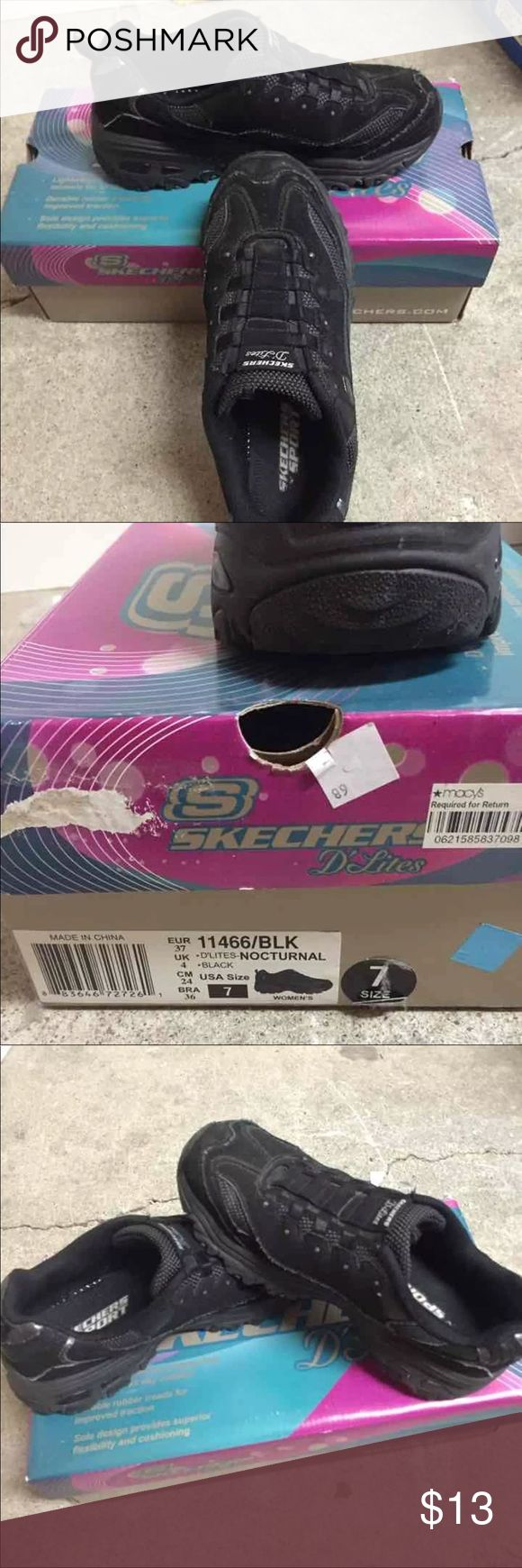 Black sketcher slip on size 7 Coming from non-smoking environment  Will take any reasonable offer  All sale are final Skechers Shoes Athletic Shoes
