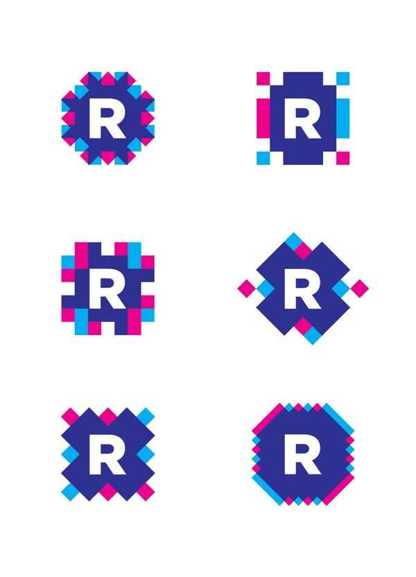 Roll ON - 6 logos - pixel