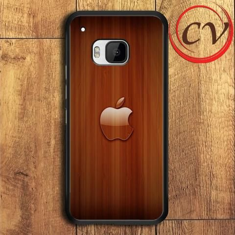 Wood Aplle HTC One M9 Black Case