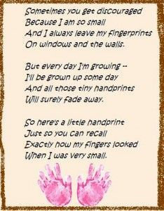 The Perfect Mother's Day Gift -- cute poem about handprints, then put your kids' handprints at the bottom.  adorable!