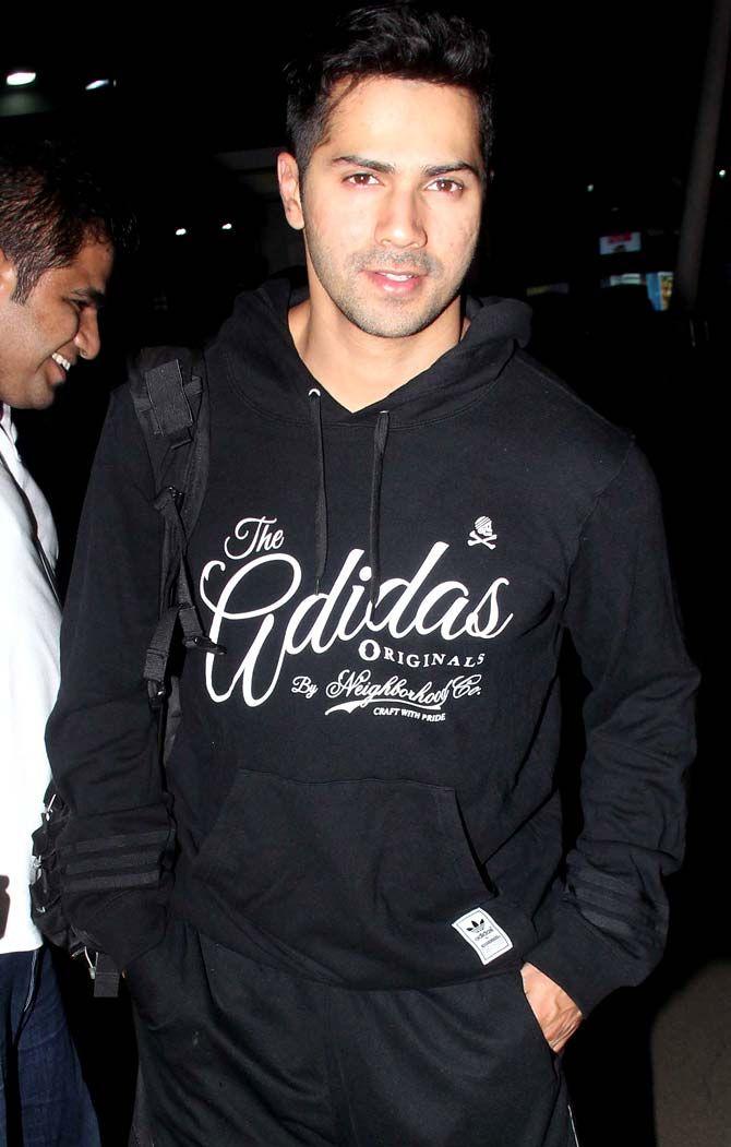 Varun Dhawan at Mumbai airport. #Bollywood #Fashion #Style #Handsome