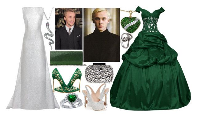 Yule Ball with Draco by slytheriner on Polyvore featuring Emilia Wickstead, Lauren Lorraine, Judith Leiber, Lipsy, Plukka, Malaika and BERRICLE
