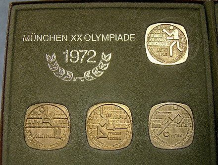 Canada 1972 Munich Olympics Cased Bronze Medallions Souvenir