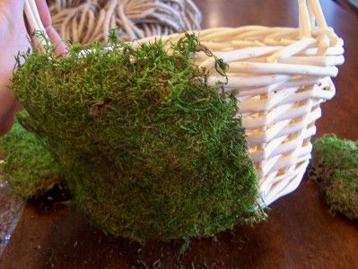 DIY How to Make a Moss Easter Basket