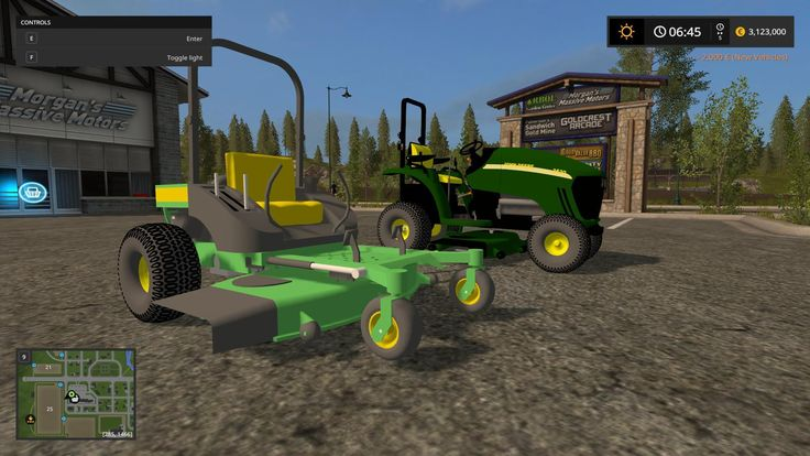 FS17 JOHN DEERE 3520 AND ZERO TURN V1.0 For sale in the section of hay mower. Washable, no lights, the instrument panel at 3520 does not work and the headlights with rear dimensions also...