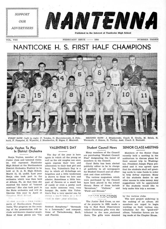 Nanticoke First Half Champions 1950.