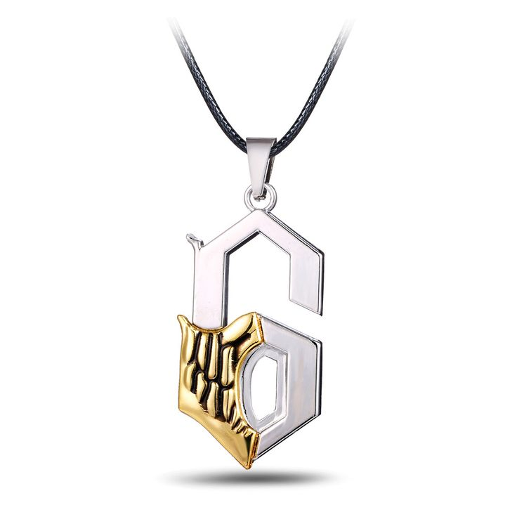 Inspired by 6th Espada Grimmjow Jaggerjack, this Bleach necklace features a number 6 pendant with Grimmjow's arrancar mask embedded onto it. A great piece of jewelry for those who love Bleach, Grimmjo