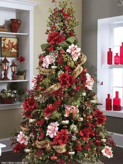 Natal, decore com flores - Amore * Pinheiros de Natal - Blog Pitacos e Achados…