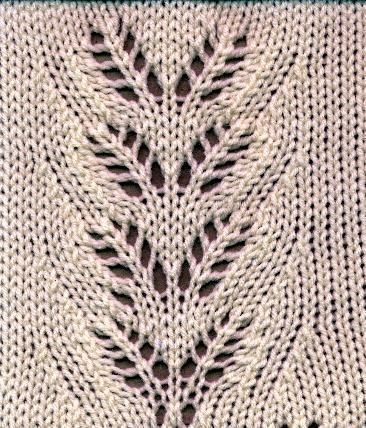 Rowan's Leaves Lace Pattern from Kathleen Kinder's book The Technique of Lace with kind permission by the Author