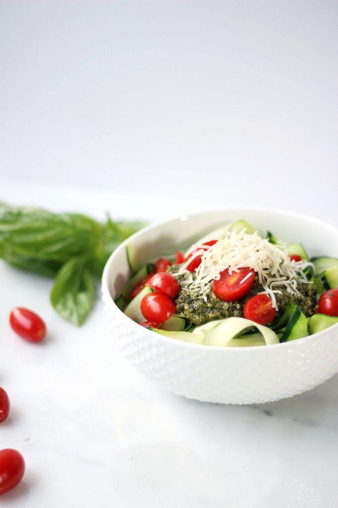 This Zucchini Pesto Pasta looks amazing.