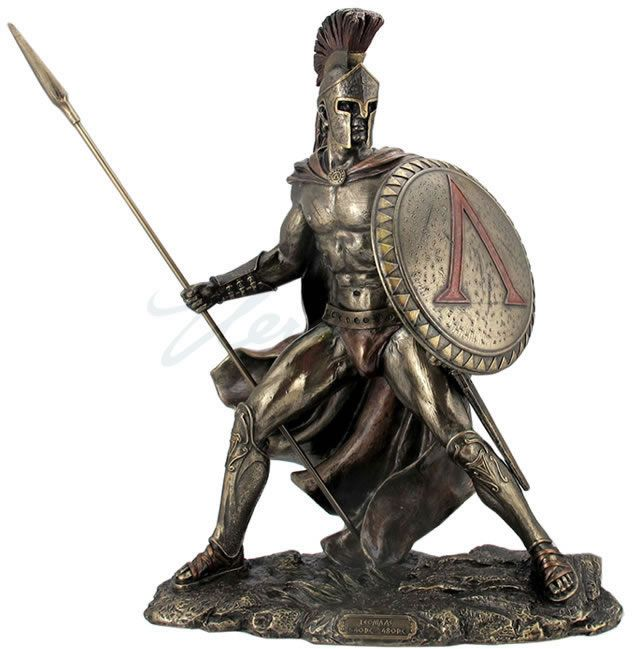 Leonadas Statue- Spartan Warrior King, Greek-Roman-Sculptures-Statues, AAWU76403A4 - AllSculptures.com