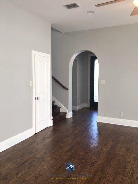 Laminate Entryway Flooring Ideas: Sherwin Williams Repose Gray, A Warm Gray Paint Colour