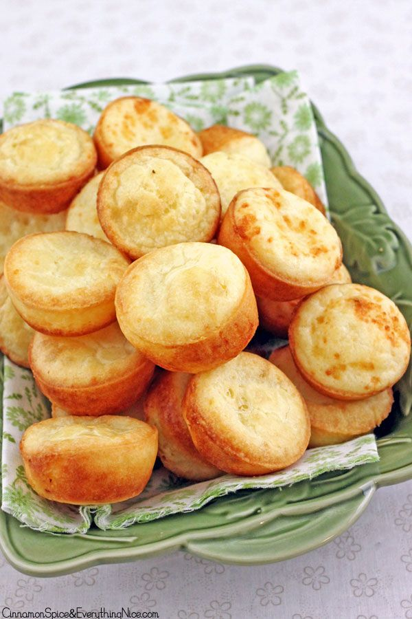 Easy cheese puffs made in a blender and baked in a muffin pan!