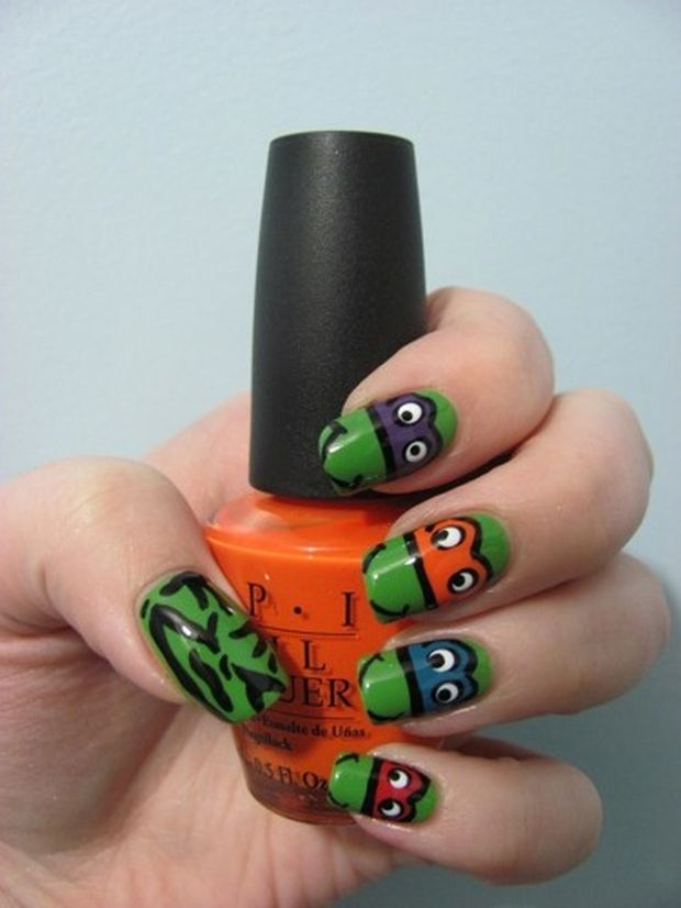 The 44 best Makeup & Nails images on Pinterest | Ninja turtle nails ...