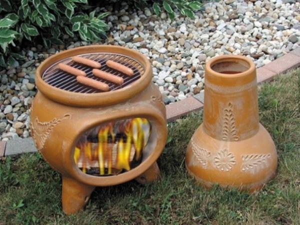 Chimney Portable Outdoor Fireplaces Design Escargo