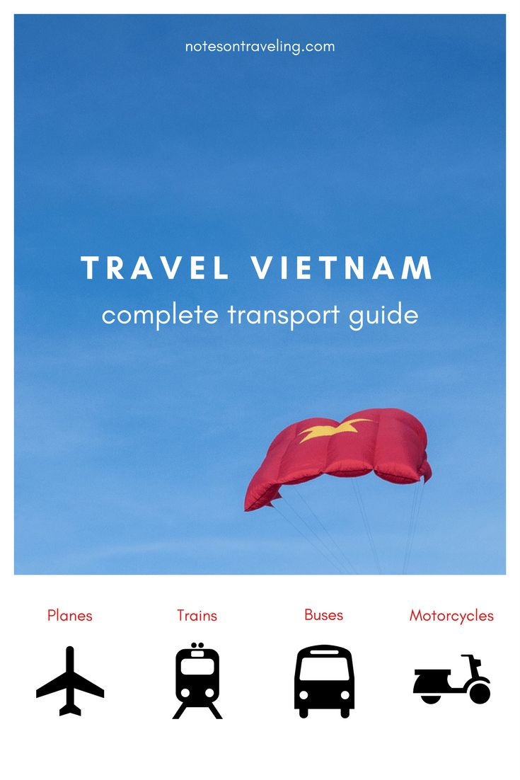Travel Vietnam by Plane, Train, Bus, and Motorcycle