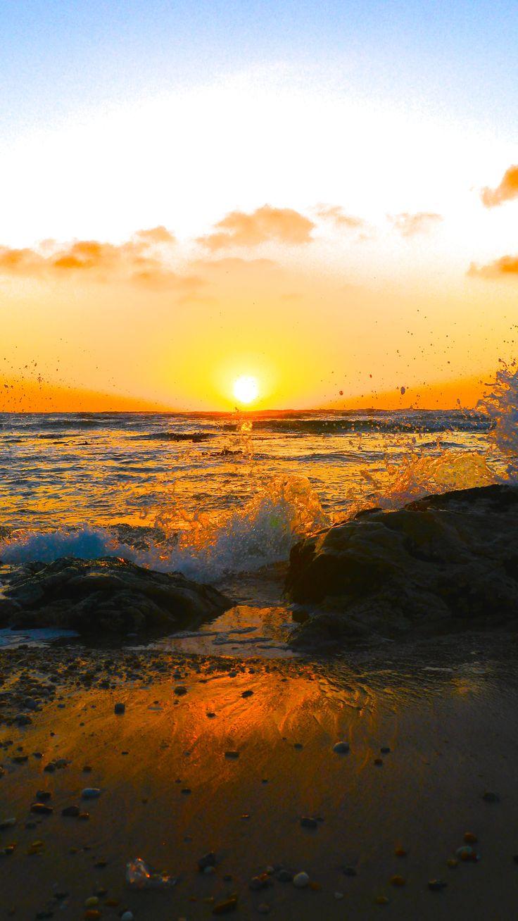 Splashing #sunset #beach  #travel #Namibia